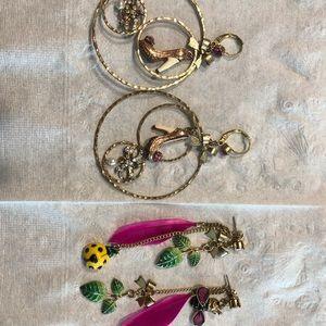 Betsey Johnson Earrings (2 pairs)